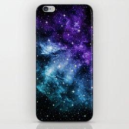Purple Teal Galaxy Nebula Dream #1 #decor #art #society6 iPhone Skin
