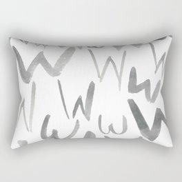 Watercolor W's - Grey Gray Rectangular Pillow