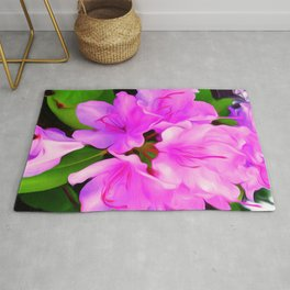 Painted Rhododendron - Pink Rug