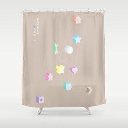 3D Kandy Vintage Kawaii Shower Curtain