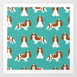 Cavalier King Charles Spaniel blenheim coat dog breed spaniels pet lover gifts Art Print