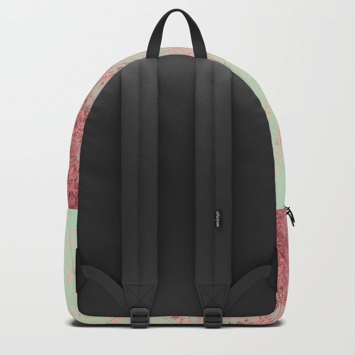 Harmony (Mint Blue Sky, Coral Pink Plants) Backpack