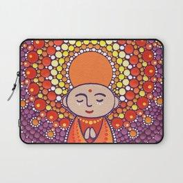 Jizo Meditating upon a Ruby Lotus Laptop Sleeve