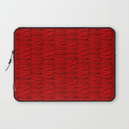 red silk curtains Laptop Sleeve