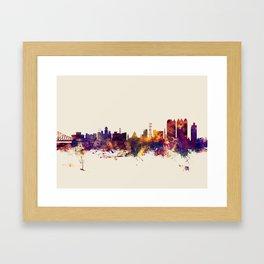Calcutta (Kolkata) India Skyline Framed Art Print