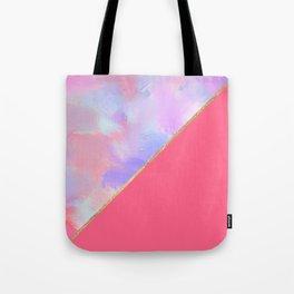 Bright pink lavender teal watercolor brushstrokes Tote Bag