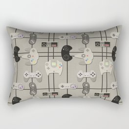 Paper Cut-Out Video Game Controllers Rectangular Pillow
