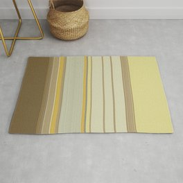 Yellow Beige Texture stripes Rug