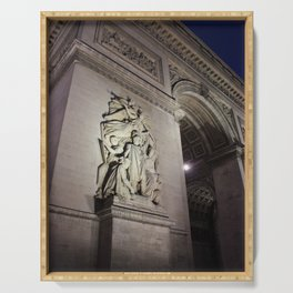 Arc de Triomphe at Night Serving Tray