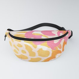 Summer Floral / Pink and Gold Fanny Pack