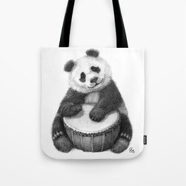 Panda playing percussion G140 Tote Bag