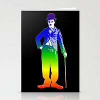 chaplin Stationery Cards featuring Chaplin by PsychoBudgie