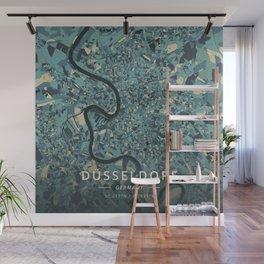 Dusseldorf, Germany - Cream Blue Wall Mural