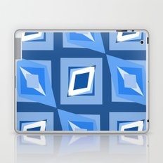 Blue and White Abstract Laptop & iPad Skin