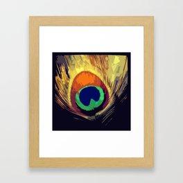 Art Deco Peacock  Framed Art Print