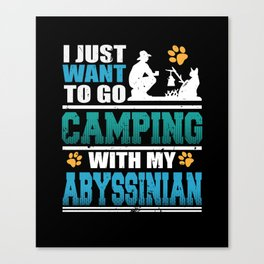 Camping with my Abyssinian Cat Canvas Print