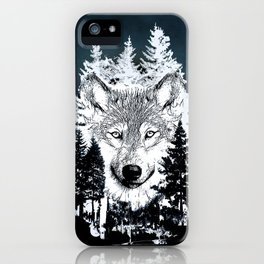 Forest Wolf Art iPhone Case