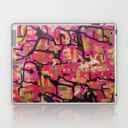 abstract gold and pink Laptop & iPad Skin