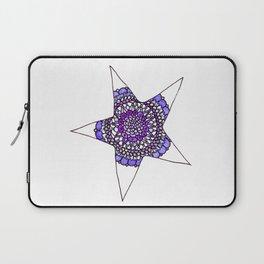 Blue/Purple Superstar Mandala Star Laptop Sleeve