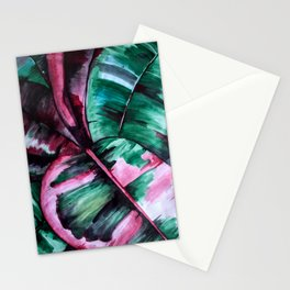 Aquarell Plant Stromanthe Sanguinea Stationery Cards