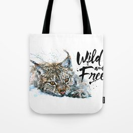 Lynx Wild and Free Tote Bag
