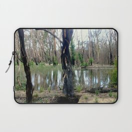 Reflecting after a bush Fire Laptop Sleeve