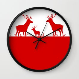 Deers Wall Clock