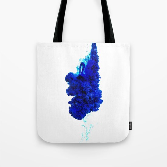INDIAN INK IN WATER / COBALT Tote Bag