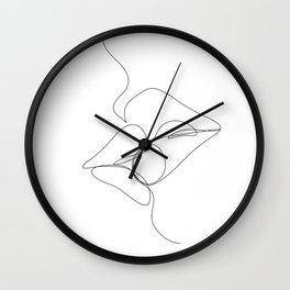 Kissing Girls Wall Clock