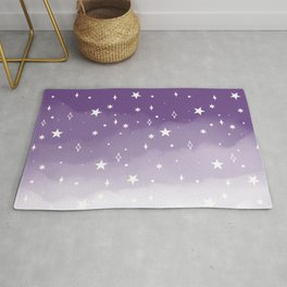 Space Watercolor Ombre (purple/white) Rug