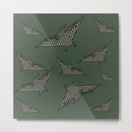 Pterosauria dark green Metal Print