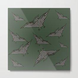 Pterosauria dark green Metal Print