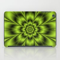 lime green iPad Cases featuring Lime Green Flower by Objowl