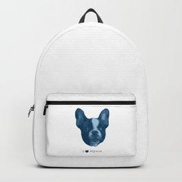 I love my dog - French Bulldog, blue Backpack