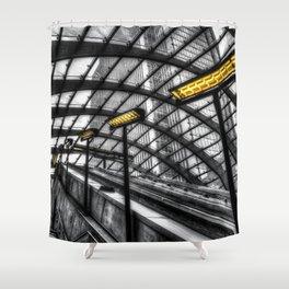 Canary Wharf Tube Escalator Shower Curtain