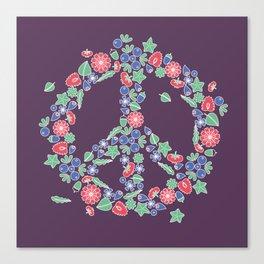 Peace. Floral wreath Canvas Print