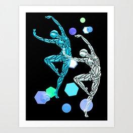 Dance Away Blue # Dance_Ink Art Print