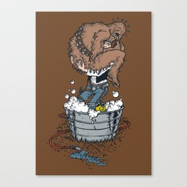 take a bath fuzzball  Canvas Print