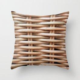 Rustic basket Throw Pillow