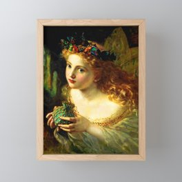 """Sophie Gengembre Anderson """"Take the Fair Face of Woman"""" Framed Mini Art Print"""