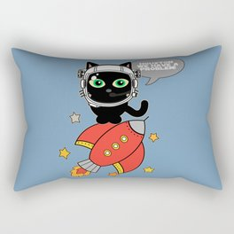Space Cat - Houston we have a problem Rectangular Pillow