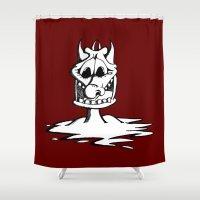 cartoon Shower Curtains featuring Cartoon Meltdown by yahtz designs