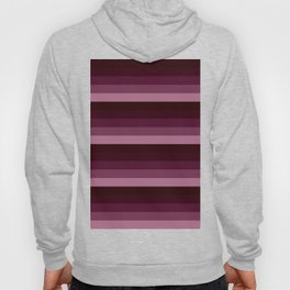 Burgundy stripes Hoody