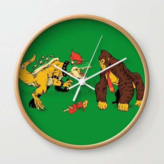 Boss vs Kong Wall Clock