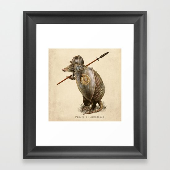 Armadillo (option) Framed Art Print