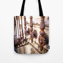 St Tropez Iron Balustrade Tote Bag