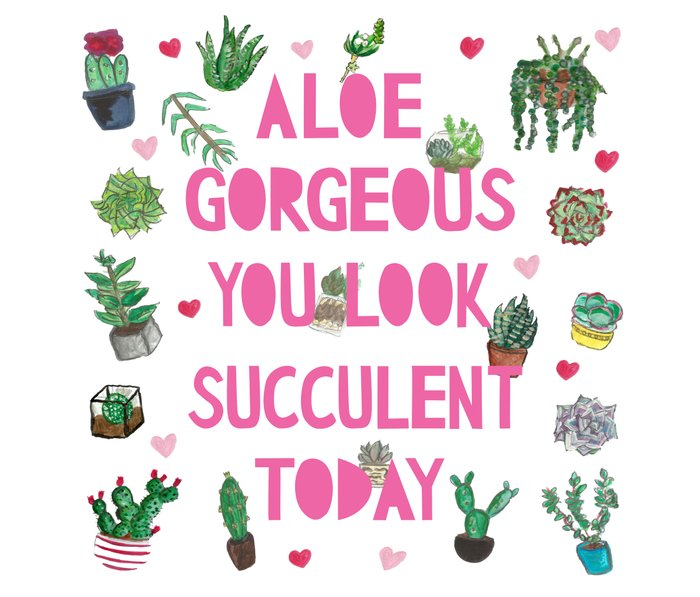 Aloe Gorgeous You Look Succulent Today Travel Mug