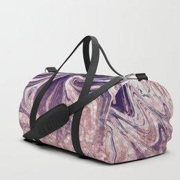 Modern Rose Gold Sparkle Melt Duffle Bag