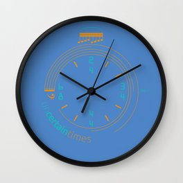 Uncertain Times Wall Clock