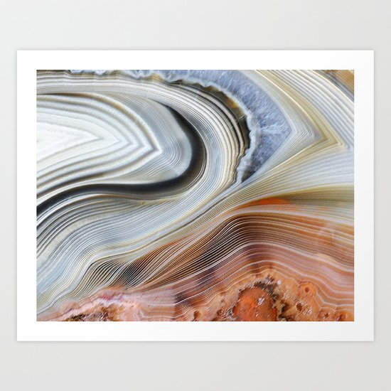 Marble Lined Art Print